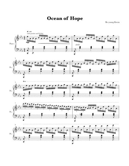 Download Ocean Of Hope Sheet Music By Bo Young Kwon Sheet Music Plus