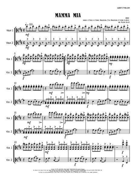 Mamma Mia - String Duo (vln/vc)