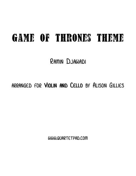 Game Of Thrones - String Duo (vln/vc)