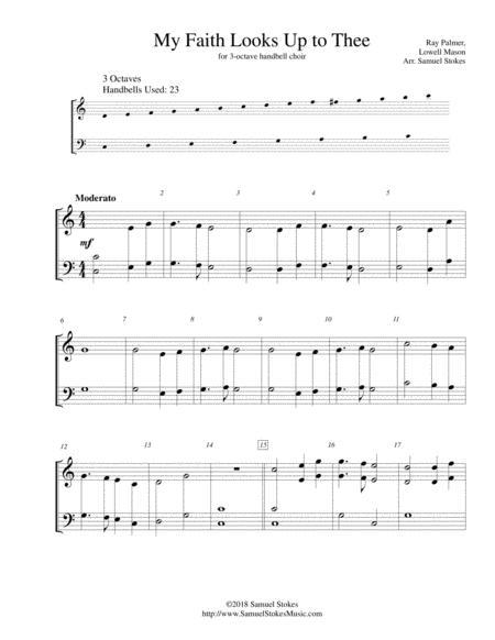 My Faith Looks Up to Thee - for 3-octave handbell choir
