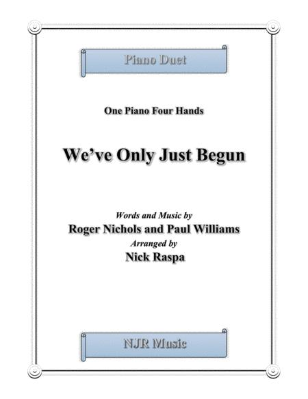 We've Only Just Begun (1 piano 4 hands) advanced intermediate