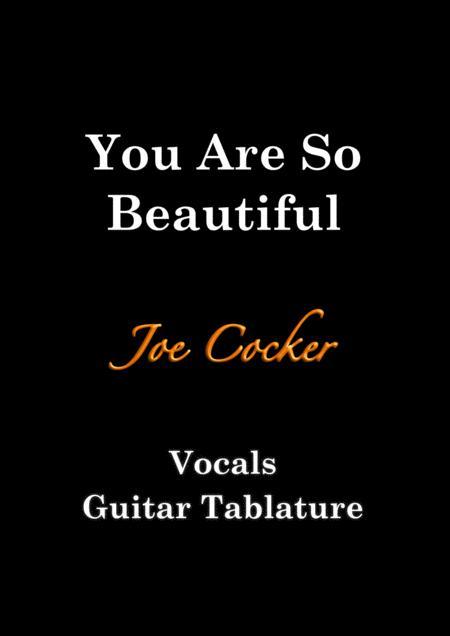 You Are So Beautiful - Guitar Tablature