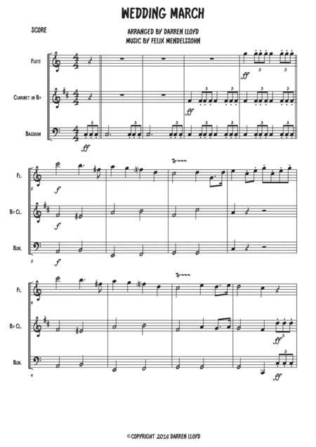 Wedding March - Woodwind trio