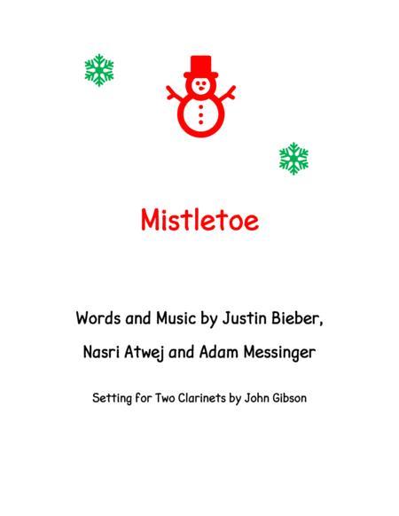Mistletoe by Justin Bieber for clarinet duet