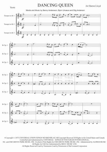Dancing Queen - Trumpet trio