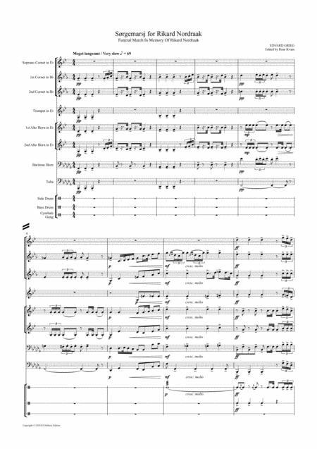 Grieg: Sørgemarj for Rikard Nordraak \| Funeral March for Rikard Nordraak (Griegs own transcription for brass ensemble)