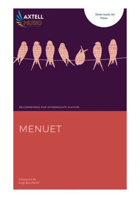 Menuet -  For Piano By Luigi Boccherini