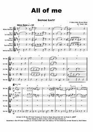 All of me - Jazz Classic - Saxophone Quintet