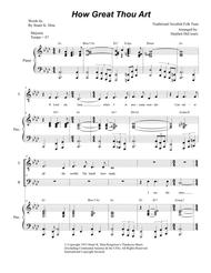 How Great Thou Art (Duet for Tenor and Bass Solo - Piano Accompaniment)