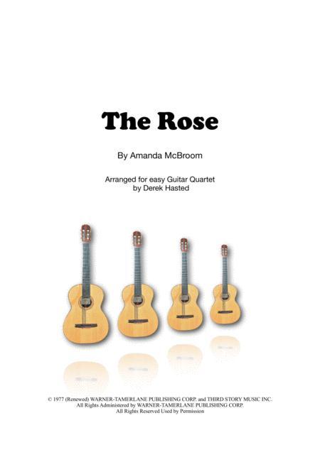The Rose (Bette Midler) for easy guitar quartet