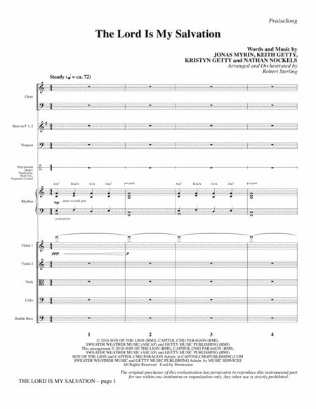 The Lord Is My Salvation - Full Score
