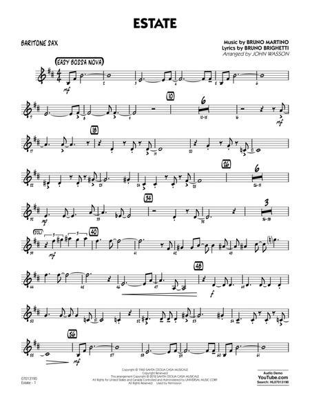Estate - Baritone Sax