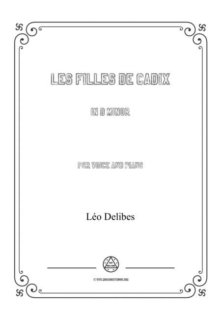 Delibes-Les filles de Cadix in d minor,for voice and piano
