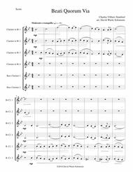 Beati Quorum Via for clarinet sextet (4 B flats, 2 Basses)