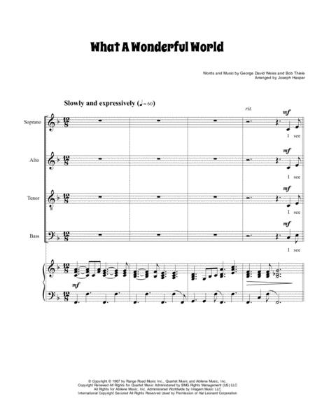 What A Wonderful World (SATB with piano)