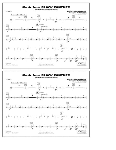 Music from Black Panther (arr. Matt Conaway) - Cymbals