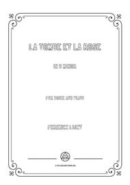 Liszt-La tombe et la rose in b minor,for voice and piano