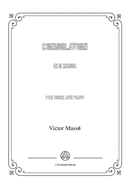 Masse-Consolation in d minor,for voice and piano