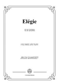 Massenet-Elégie in d minor,for voice and piano