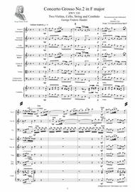 Handel - Concerto Grosso No.2 in F major HWV 320 Op.6 for Two Violins, Cello, Strings and Cembalo