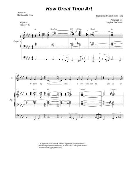 How Great Thou Art (Duet for Soprano & Tenor Solo - Organ Accompaniment)