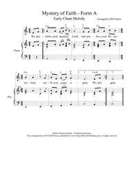 Mystery of Faith (Forms A & C) - chant