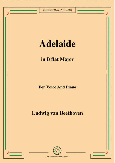 Beethoven-Adelaide in B flat Major,for voice and piano