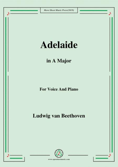 Beethoven-Adelaide in A Major,for voice and piano
