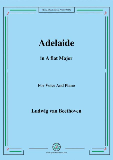 Beethoven-Adelaide in A flat Major,for voice and piano
