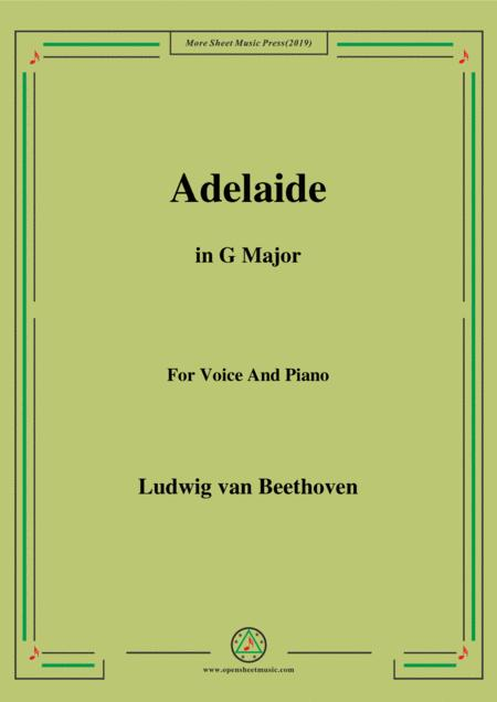 Beethoven-Adelaide in G Major,for voice and piano