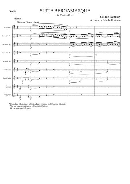 C.Debussy - Prelude from Suite Bergamasque (for Clarinet Choir)