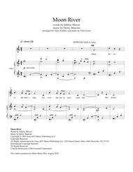 Moon River, arranged for choir S-A-Bar and piano
