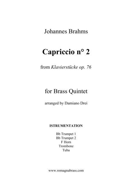 Brahms - Capriccio op. 76 n. 2 for Brass Quintet