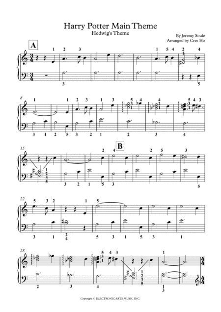 Harry Potter Hedwig 039 S Theme Main Theme Piano Solo By Digital Sheet Music For Score Download Print H0 396063 Sc000949844 Sheet Music Plus