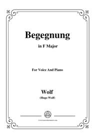 Wolf-Begegnung in F Major,for voice and piano