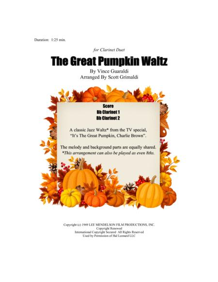 The Great Pumpkin Waltz - for Clarinet Duet