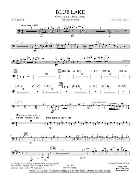 Blue Lake (Overture for Concert Band) - Trombone 2