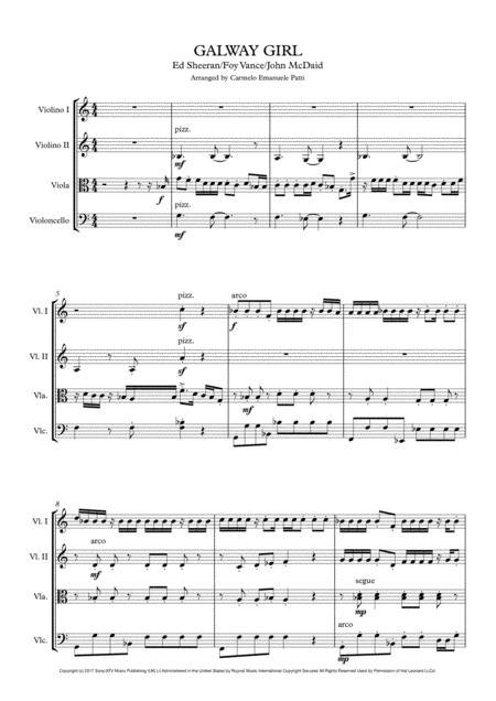 Galway Girl (String Quartet)