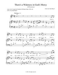 There's a Wideness in God's Mercy (SATB and piano) 5 pages.