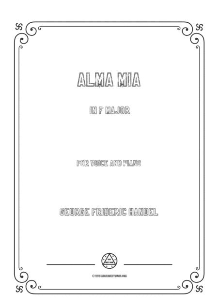 Handel-Alma mia in F Major,for voice and piano