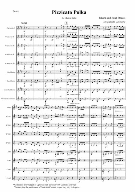 Johann Strauss II - Pizzicato Polka (for Clarinet Choir)