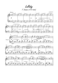 Melodie by Schubert for easy piano