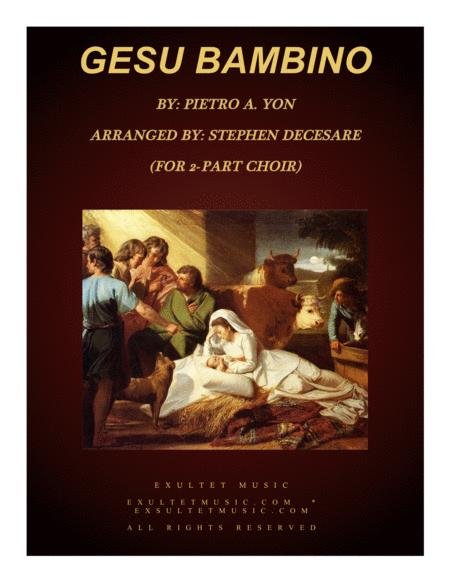 Gesu Bambino (for 2-part choir)