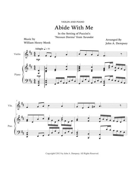 Preview Abide With Me Violin And Piano By William Henry Monk