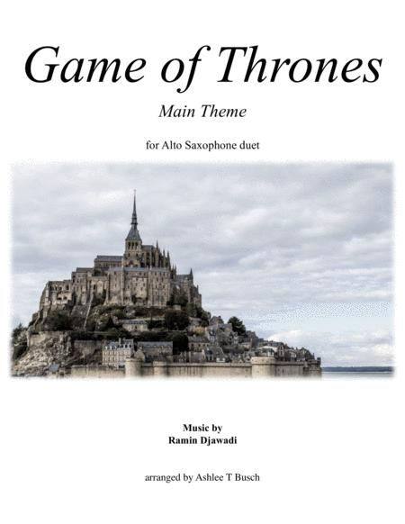 Game Of Thrones for Alto Sax Duet