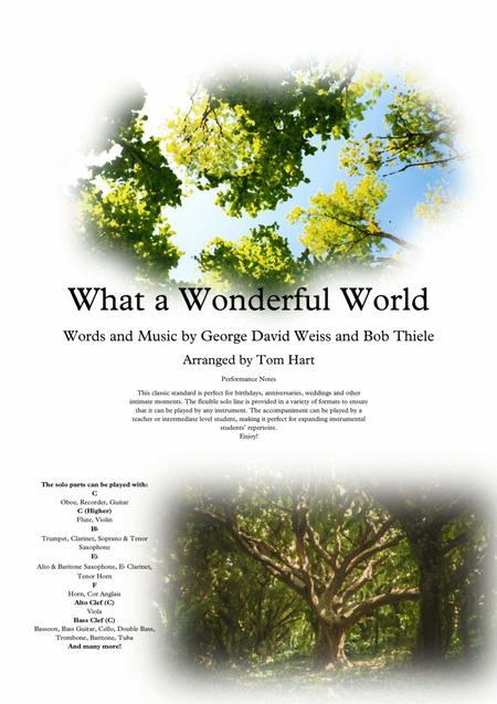 What A Wonderful World - Instrumental Solo & Piano