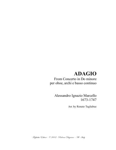 ADAGIO PER OBOE E ARCHI - A. Marcello - Arr. for String Quartet and Piano/Organ