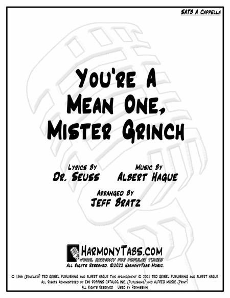 You're A Mean One, Mr. Grinch (SATB A Cappella)