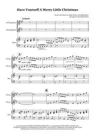 Have Yourself A Merry Little Christmas - Solo saxophone in Eb/Bb with piano