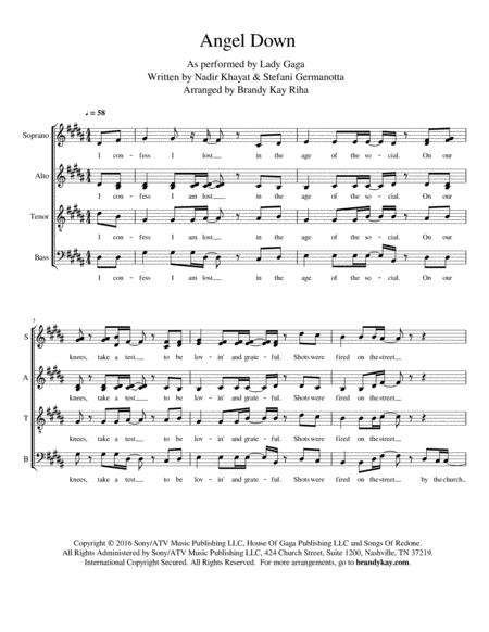 Angel Down (SATB a cappella)